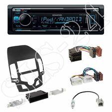 Kenwood KDC-300UV + Hyundai i30 (FD/FDH) 2-DIN Blende schwarz + ISO-Adapter Set