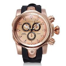 SHHORS Men's Quartz Watches Luxury Big Face Casual Silicone Band Man Watch M6M9