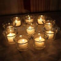 Crystal Glass Votive Candle Holder Romantic Wedding Bar Party Decor Candlestick