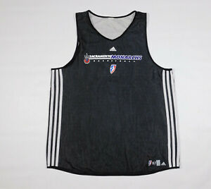 SACRAMENTO MONARCHS #13 Reversible Adidas Team Issued WNBA Practice Jersey XL