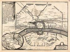 Antique map, Plan de la Ville de Bonne et de Fort de Bourgogne