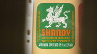 OLD BRITISH BEER LABEL, FULLER SMITH & TURNER CHISWICK ENGLAND, SHANDY