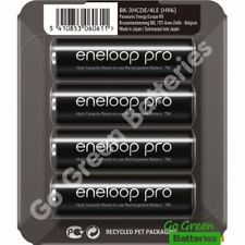 4 x Panasonic Eneloop PRO AA 2500 mAh Rechargeable Batteries Ready To Use SLIDER