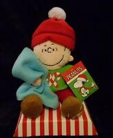 "PEANUTS A CHARLIE BROWN CHRISTMAS 10"" PLUSH MUSICAL LINUS DOLL NEW"