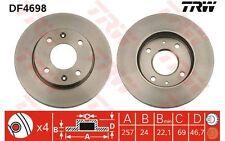 TRW Juego de 2 discos freno 257mm ventilado HYUNDAI MATRIX KIA MAGENTIS DF4698