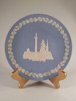 Wedgwood England Round Blue Christmas 1970 Trafalgar Square Jasperware Plate