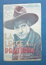 43465 La legge della prateria - romanzo d'avventure con Grant Withers - 1935