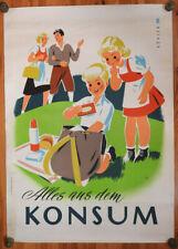 Original KONSUM Plakat Österreich - Alles aus dem.. Köhler, Werbeplakat, Reklame