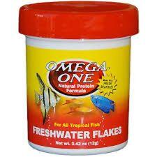 Omega One Tropical Flakes .42 oz Premium Fish Food