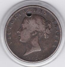 1845  Early   Queen  Victoria   Half  Crown  (2/6d) -  92.5%  Silver  Coin