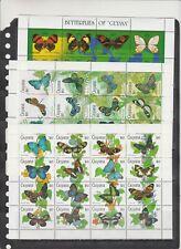 Guyana 1990 butterflies insects 3klb MNH
