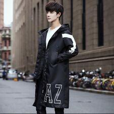 Men's Long Knee Korean Kpop Winter Windbreaker/Jacket Korean Large/USA Medium