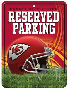 Kansas City Chiefs Metal Reserved Parking Sign [NEW] NFL Wall Embossed Garage
