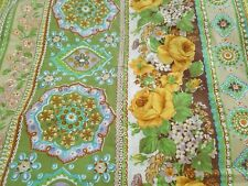Vintage Cannon Royal Family 'Windsor Park' FLAT and FITTED Sheets Green Yellow