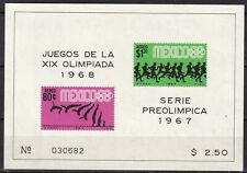 Mexico #C329a MNH S/S '68 Olympics Diving Marathon