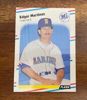 1988 Fleer Glossy Edgar Martinez #378 - RC Rookie - HOF - FREE SHIPPING