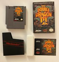 Nintendo NES Double Dragon III 3 Original Complete CIB Non-Rental Manual Box