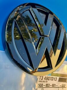 LOGO VW ARRIÈRE GOLF IV 4 MK4 NOIR BRILLANT ORIGINAL 1J6853630A041 NEUF GTI V6