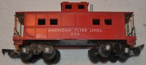 Vintage Gilbert American Flyer Lines Red Caboose #638