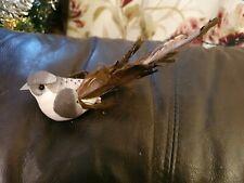 Vintage Christmas Clip On Tree Feathered Bird X 1 decoration