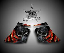 SKI-DOO REV MXZ SNOWMOBILE WRAP GRAPHIC SIDE PANEL DECAL 03-07 TOXIC RED