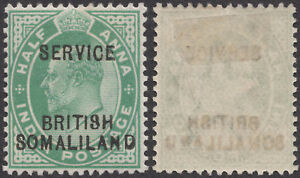 "Somaliland Prot. 1903 KEVII SG O6 ""BRITI9H"" for ""BRITISH"" Error FMHOG SEE DESCR."