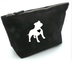 staffordshire bullterrier, bag, gift,cosmetics,make up, toiletries, medium, dog