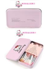 Hello Kitty 7pcs Powder Brush Set Foundation Eyeshadow Eyeliner Lip Brush Tool&