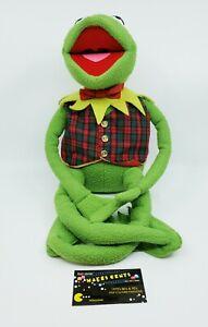 """24"""" Vintage Eden Macy's Kermit The Frog Muppets Plush Plaid Vest & Bow Tie"""