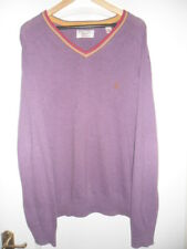 "MENS ""ORIGINAL PENGUIN"" LIGHT MAUVE  COTTON V NECK  JUMPER  SIZE XL"