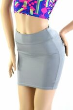 SMALL Gray Stretchy Spandex Bodycon Mini Skirt NWT Ready To Ship!