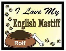 English Mastiff Personalized I Love My English Mastiff Magnet