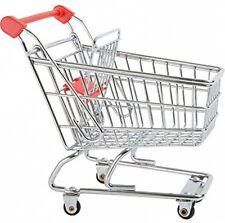 Pie Pequeño 8001 carrito de compras para las muñecas de Metal Juguete Carro de compra de supermercados