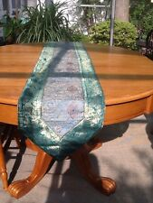 Table Runner - Brand New Turquoise Green & Gold