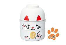 お弁当 BENTO BOX Manekineko BLANC 440 ml + bol + élastique (SMALL) Made in Japan