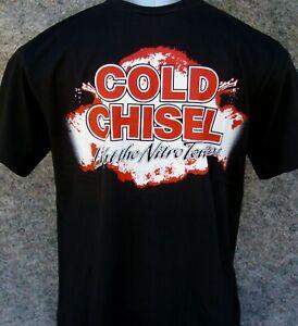 COLD CHISEL - nitro tour - quality screen printed t-shirt sizes (S - L - XL)