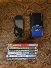 PSP w Games No Cords, Not Tested, Needs new thumbstick