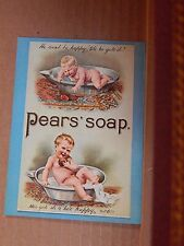 Postcard Advertising Pears soap Old Advert Modern card
