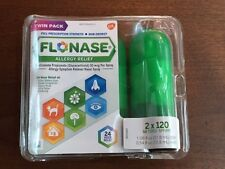 Flonase Allergy Relief Nasal Spray 2 X 120 =240 Sprays (DAMAGE  PACKAGE )