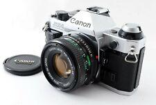 Mint 🌟 Canon AE-1 Program 35mm Silver Film Camera + NFD 50mm F/1.8 Lens f Japan