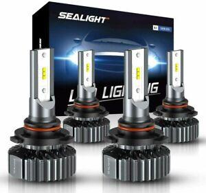 SEALIGHT S1 Combo 9005 9006 LED Headlight Bulbs Kit High Low Beam Headlamp 6000K