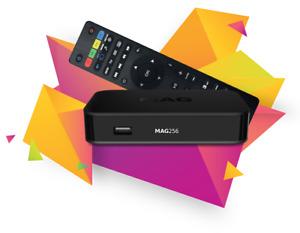 MAG 256 FULL HD HEVC SET TOP BOX STREAMING MULTIMÉDIA IPTV OTT INFOMIR ENVOI FRA