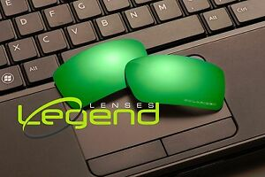 E56 Green/Blue ETCHED POLARIZED Replacement Legend Lenses For Oakley GASCAN