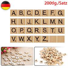 200 Stk Holzblöcke Alphabet Scrabble Spielsteine Fliesen Buchstaben /& Zahlen DIY