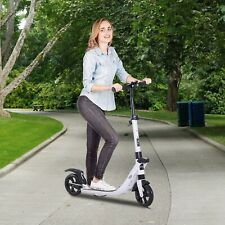 Teens Adult Folding Pro Kick Scooter Foldable Rider Adjustable Height,White