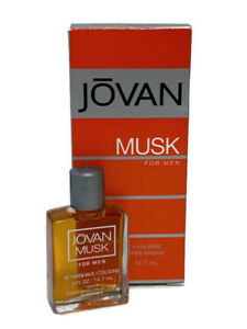 Coty Jovan Musk For Men Aftershave/Cologne .5 fl oz New in Box