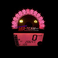 Kawasaki ER-6N BJ 12-16 Tachobeleuchtung Motorrad Umbau LED Set PINK LED-Team