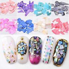 1 Set Shell Crushed Stones Gravel Flakes Marble Manicure Nail Art Decor 12Colors
