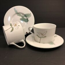 Vintage Mid Cenrury Watercolors Block Spal Portugal Cup and Saucer Set of (2)