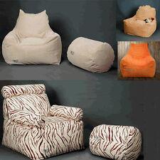 Design Sitzsack Sessel Bezug Sitzkissen Bean Bag inkl. Hocker mit Innenbezug